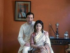 Happy Couple: Actor Sharmila Tagore and cricketer Mansur Ali Khan (Nawab of Pataudi) of India.