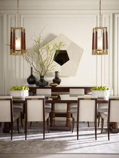 Contemporary dining room. i hate stuff that look like old people