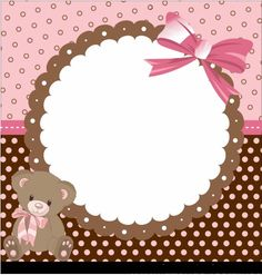 Preparing Our Party !: Kit Festa Ursinha (pink and brown) easy to edit and print Baby Scrapbook, Scrapbook Paper, Baby Name Letters, Teddy Bear Party, Baby Journal, Baby Shawer, Print Box, Foto Baby, New Baby Cards