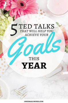TED Talks with actionable advice & inspiration to help you achieve your goals this year. Click for tips on making your dreams reality. via @onesmallword