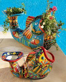 Large 16 Mexican Folk Art Talavera Pottery Animal Horse 400 x 300