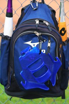 The DOM is an organizer for Baseball and Softball. Players, coaches keep the dugout safe with our unique organizer for your team. Dugout Organization, Baseball Dugout, Baseball Equipment, Softball Players, North Face Backpack, Inventions, Coaching, Helmet, Basketball