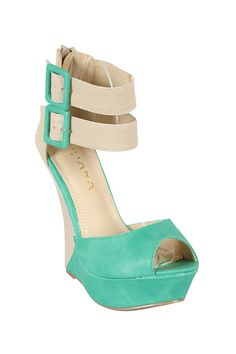 Buckled Ankle Wedges