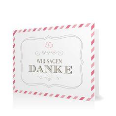 Dankeskarte Par Avion in Sorbet - Klappkarte flach #Hochzeit #Hochzeitskarten #Danksagung #Foto #modern https://www.goldbek.de/hochzeit/hochzeitskarten/danksagung/dankeskarte-par-avion?color=sorbet&design=c982d&utm_campaign=autoproducts
