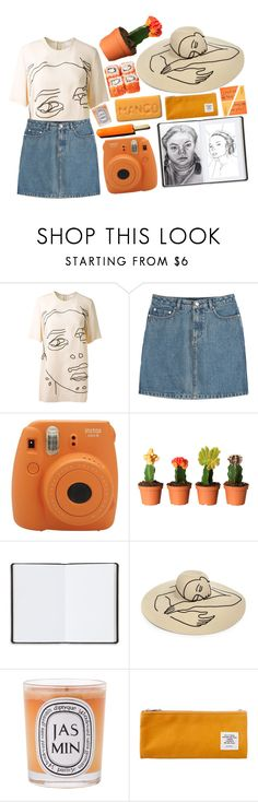 """She's sketching how people are in this moment"" by hougach ❤ liked on Polyvore featuring STELLA McCARTNEY, A.P.C., Fujifilm, Harrods, Eugenia Kim, Diptyque and Sweet Bella"