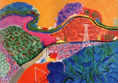 More stunning colours by David Hockney