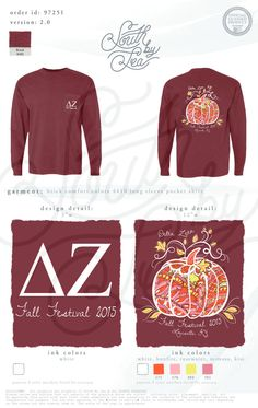 Delta Zeta | DZ | Pumpkin Tee Shirt Design | Fall Theme Sorority Tee Shirt | Fall Festival | South by Sea | Sorority Shirts | Sorority Tanks | Greek Shirts | TShirt Ideas | Tee Shirt Ideas