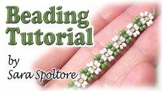 BeadsFriends: bead flowers for beginners - Daisy chain - DIY ring, brace...