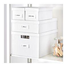 TJENA Kannellinen laatikko - valkoinen - IKEA
