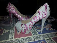 Diy zebra pink heels