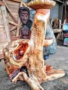나무뿌리 공예품