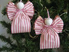 40 Latest Holiday Designs to Try out with DIY Christmas Ornaments Christmas Ornaments To Make, Christmas Love, Christmas Angels, Handmade Christmas, Christmas Holidays, Angel Ornaments, Thanksgiving Holiday, Angel Crafts, Christmas Projects