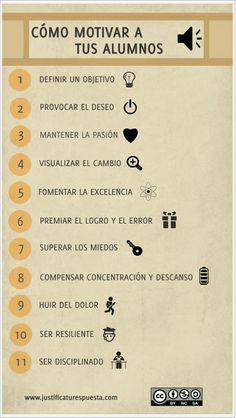 Mi pequeños aportes: Claves para motivar en el aula a tus alumnos  Aquí les dejo una infografía con 11 claves para motivar en el aula.