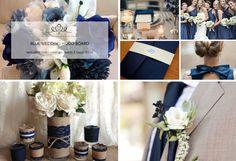 Week 13: Blue Wedding Mood Board  Very simple but #refined style.  #week13 #weddingmoodboard #weekweddingmoodboard #blue   #destinationwedding
