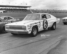 Bobby Allison drove this Dodge Charger in the Firecracker 400 NASCAR Cup race at Daytona International Speedway for car owner Cotton Owens. Allison finished seventh in the race.