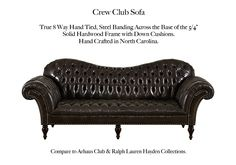 The Crew Club by Casco Bay Furniture Crew Club, Casco Bay, Chesterfield Sofa, Leather Furniture, Home Bedroom, Sofas, Love Seat, Chairs, Cushions