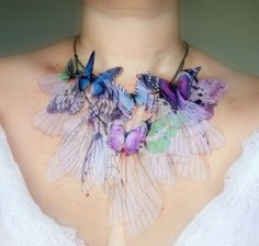 ethereal butterfly sheer fairy necklace