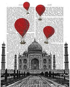 Hey, I found this really awesome Etsy listing at https://www.etsy.com/listing/153477236/taj-mahal-red-hot-air-balloon-india