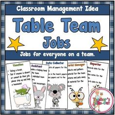 FREE Table Team Jobs are perfect for putting your students into teams of 4-5. This can help build a class community where everyone feels a part of the group and there is no arguing about who does what. Each team member at the table will have a job to do which will help make your classroom run smoother.It's easy to do.