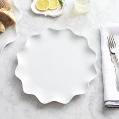 Mallorca Flat Plate from Crate and Barrel these plates! Paola Navone, White Dinner Plates, White Dishes, Wall Ornaments, Porcelain Dinnerware, Pie Dish, Crate And Barrel, Outdoor Dining, Kitchen Dining