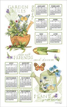 Calendar Towel 2017 - Garden Rules