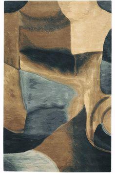 Shades of earth tones combine to create a beautiful rug. #HDCrugs HomeDecorators.com