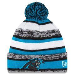 Carolina Panthers New Era On-Field Sport Sideline Cuffed Knit Hat – Panther  Blue Panthers 74885dbc450