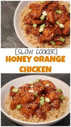 Slow cooker honey orange chicken gives you the taste and flavor of Chinese takeout without all the breading and oil!