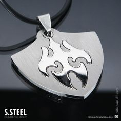 Stainless steel Shield Pendant Necklace S 281