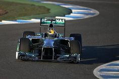 Lewis Hamilton with his new Mercedes testing in Jerez Formula 1® - The Official F1® Website