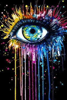 The shakras and the eye is what I see Pencil Art Drawings, Art Drawings Sketches, Tableau Pop Art, Eyes Artwork, Crayon Art, Galaxy Art, Arte Pop, Eye Art, Painting & Drawing