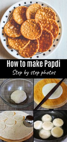 How to make Papdi recipe - Flat puris made with all purpose flour. It has a crispy yet flaky texture. These papdis are crispy and little flaky. These are perfect Indian snacks for the tea-time. This can be used into the street food chaat recipes Indian Snacks, Indian Appetizers, Indian Food Recipes, Diwali Recipes, Curry Recipes, Rice Recipes, Vegan Recipes, East Indian Food, Chats Recipe