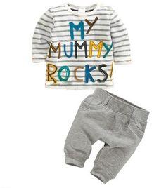 Pas cher 2015 new summer bébé garçon mis des vêtements d été rayé alphabet  voiture f9e88832cc3