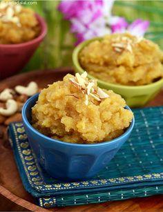 Moong Dal Halwa recipe | Moong Daal Halwa | by Tarla Dalal | Tarladalal.com | #3914