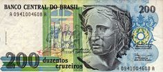 200 CRUZEIROS 1990 BRAZILIAN.... I love baknotes... And i want to collect them...