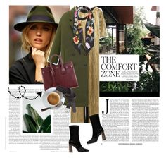 """""""Comfort Zone"""" by girlygirl ❤ liked on Polyvore featuring Zara, Rockins, Yves Saint Laurent, H&M, YSL, metallic, zara and coats"""