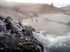 The Boiling River. Swimming in the Hot Springs. Another thing to do in Yellowstone National Park