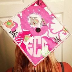 Lilly graduation hat...I'm doing this even though we don't have the graduation hats...I don't even know what they're called!!  #roughlife