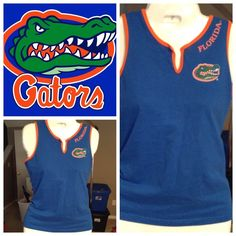 """Florida Gator Top Bright FLORIDA GATOR Tank is in good condition with normal wear.  Size large this shirt is blue and orange.  Length is """"23 and from arm to arm LAYING FLAT is """"18.  Non smoking home CONCEPTS SPORTS Tops Tank Tops"""
