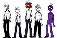 Aw I just realized that Vincent(purple guy) Is short x3; compared to Mike at least!