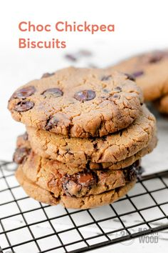 Choc Chickpea Biscuits