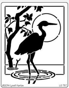 Dreamweaver Giant Brass Stencil - Heron