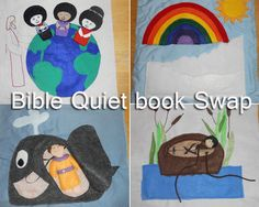 Quiet book swap -- Bible themed pages. Pictures of 19 pages. www.continuallycreative.com