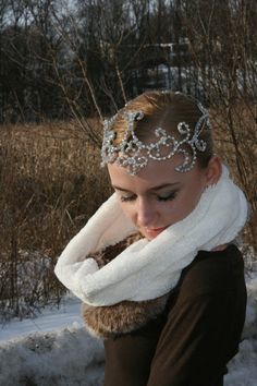 Silver with AB Crystal Ornate full circle Ballet by Angamow