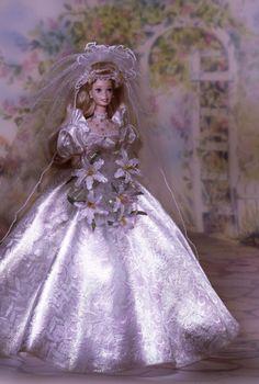 Star Lily Bride® Barbie® Doll. 1995. Porcelain Doll.