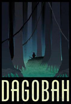 Dagobah Fantasy Travel Poster Poster sur AllPosters.fr