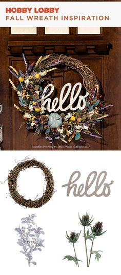 Bring fall inside with this DIY wreath. Get supplies at your local Hobby Lobby®. Fall Crafts, Holiday Crafts, Holiday Fun, Home Crafts, Diy Crafts, Diy Fall Wreath, Fall Diy, Dyi, Craft Night