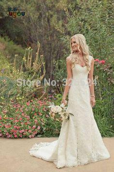 especial romântica Vestido de noiva sereia v pescoço vestido de casamento aberto para trás sereia praia elegante laço vestido de noiva ws001 em Vestidos de noiva de Roupas & acessórios no AliExpress.com | Alibaba Group