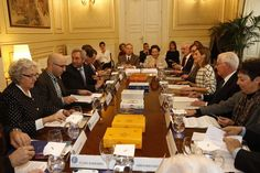 Vista general de la reunión con el Consejo Asesor y lingüistas de la Fundéu BBVA. Sede de la Fundación BBVA. Madrid, 18.02.2015