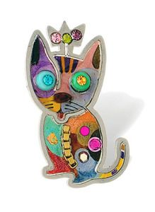 Delicate And Light, These Intricately Designed Kitten Pin, By Is Art Artist  Seeka, Are Hand Painted Within The